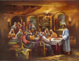 Black Last Supper Prints by Bev Lopez