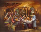 La última cena negra Láminas por Bev Lopez