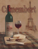 Camembert, Tour Eiffel Print by T. C. Chiu
