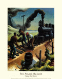 Ten Pound Hammer Poster by Thomas Hart Benton