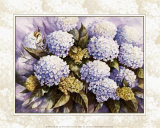 Blue Hydrangea Posters by Peggy Thatch Sibley