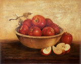Apples in Wood Bowl Affiches par Peggy Thatch Sibley