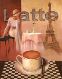 Latte, Paris Posters by T. C. Chiu