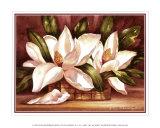 Blühende Magnolien Kunst von Peggy Thatch Sibley