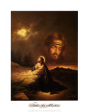 Praying at Gethsemane Prints by Myung Bo