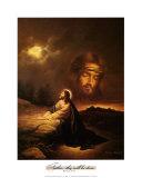 Praying at Gethsemane Prints by Myung Bo