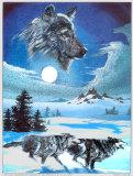 Running Wolves Plakater af Gary Ampel