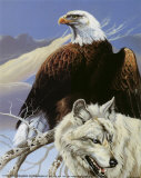 Eagle and Wolf Poster by Gary Ampel