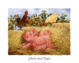 Eier und Schinken Poster