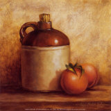 Jug with Peaches Prints by Peggy Thatch Sibley