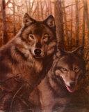 Wolves Pair Posters af T. C. Chiu
