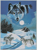 Howling Wolves Print by Gary Ampel