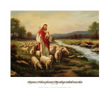 Jesus the Shepherd Posters by Myung Bo