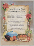 Happy Marriage Recipe - Spanish Psters