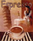 Espresso, Pisa Posters by T. C. Chiu