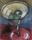 Martini Olive Art by Todd Walk