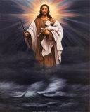 Jesus mit Lamm Kunstdrucke von T. C. Chiu