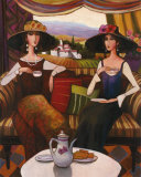Tea Time, Center Panel Kunstdruck von T. C. Chiu