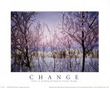 Change: Snowy Trees Affiches