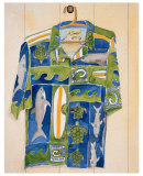 Hawaiian Shirt, Shark Bait Prints by Mary Spears