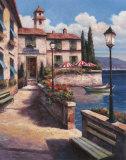Mediterranean Villa I Print by T. C. Chiu