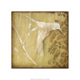 Wings & Damask I Premium Giclee Print by Jennifer Goldberger