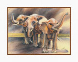 Family of Elephants Prints by Nancy Azneer