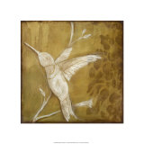 Wings & Damask II Premium Giclee Print by Jennifer Goldberger