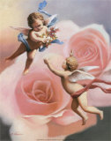 Cherubs' Rose Art by T. C. Chiu