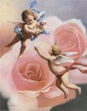 Cherubs' Rose Art by T. C. Chiu