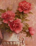 Pink Roses Art by T. C. Chiu