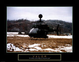 Valor: Helicopter Landing Affiches par Jerry Angelica