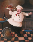 Turkey Chef II Print by T. C. Chiu