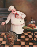 Turkey Chef I Print by T. C. Chiu
