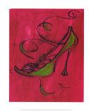 Racy Rachael Shoe Print by Scherezade Garcia