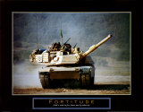 Fortitude: Tank on the Move Poster by Jerry Angelica