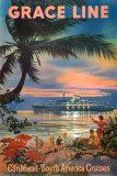 Karibik Umělecké plakáty