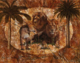 Jungle Lions Art by Jonnie Chardonn