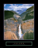 Values: Takakkaw Falls Posters by Dermot Conlan