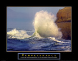 Perseverance: Crashing Wave Posters par Craig Tuttle