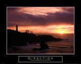 Direction: Lighthouse Affiche par Craig Tuttle