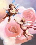 Rosa de los querubines Pósters por T. C. Chiu