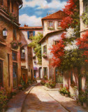 Mediterranean Villa II Prints by T. C. Chiu