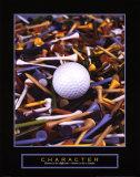 Carácter: tees de golf Lámina por Bruce Curtis