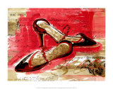 Best Black Heels Poster by Kimmy Han
