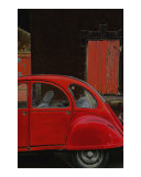 Red Citroen Photographic Print by Andrew Fare