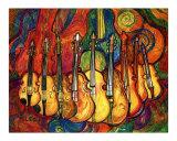 Violins Giclee Print by Leone Ardo