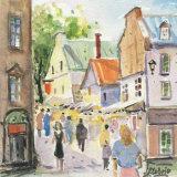Rue du Tresor Print by Jean-rock Labrie