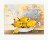 Plate with Pears Posters by Caroline Caron