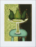 Green Pears I Poster by Monica Ibanez